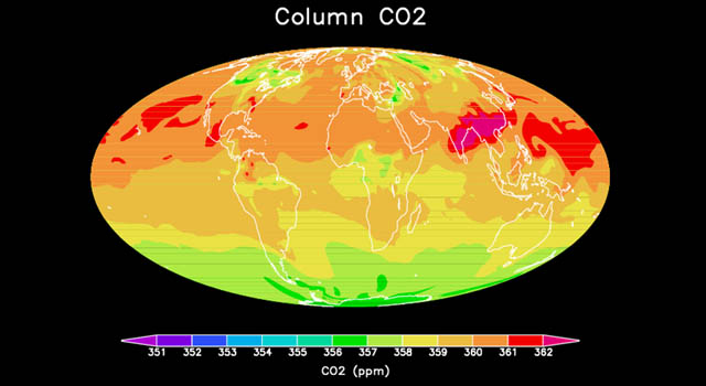 map showing sources and storage of carbon dioxide