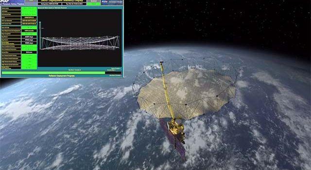 Soil Moisture Mapper Antenna Deploys