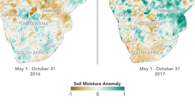 Data from NASA's Soil Moisture Active Passive satellite