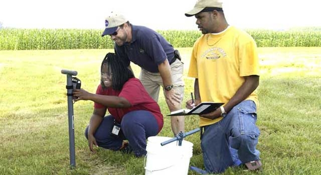 Scientists, Students Dig High and Low for ''Dirt'' on Soil Moisture