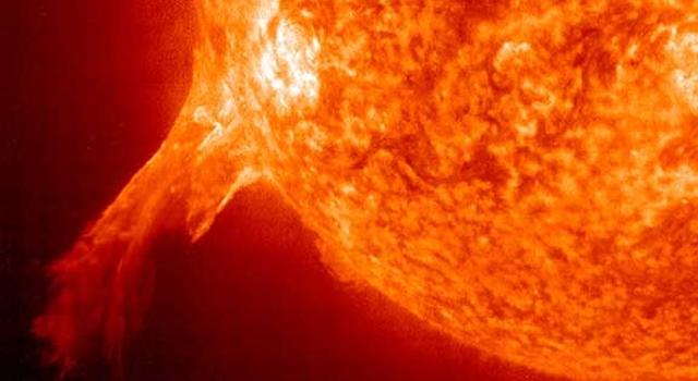 SOHO image of solar flare