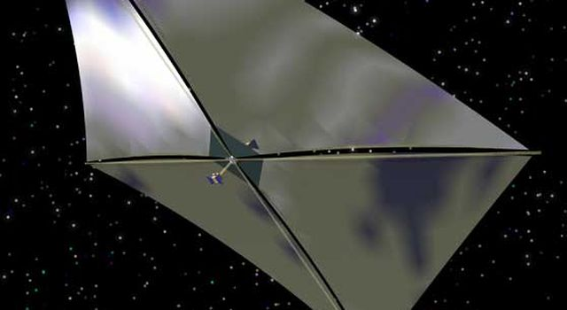 Artist's concept of solar sail