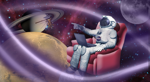 Artist concept of an Astronaut sitting in a chair