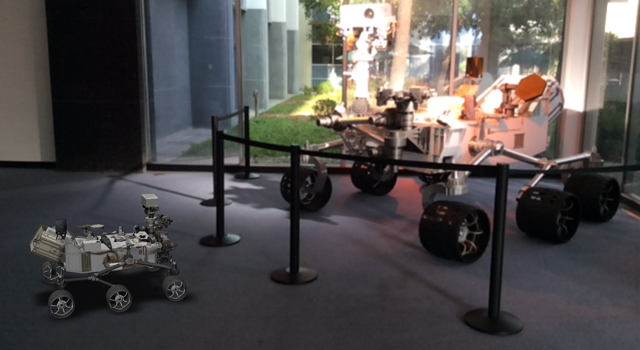 A 3D, augmented reality model of NASA's Curiosity rover