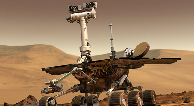 Artist's concept of the Spirit rover
