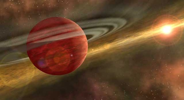 Artist's concept showing a possible newfound planet spinning