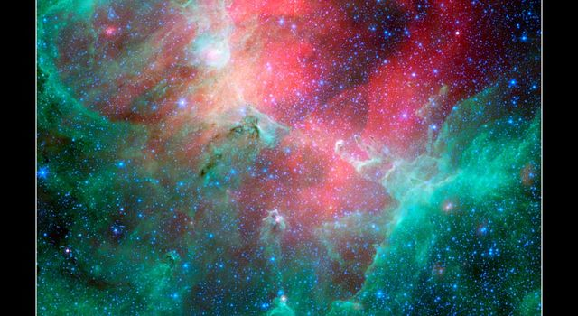 Infrared view of the Eagle nebula
