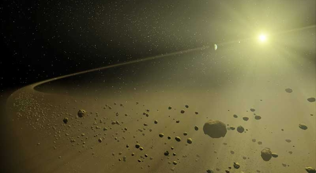 Artist's concept depicting a distant hypothetical solar system