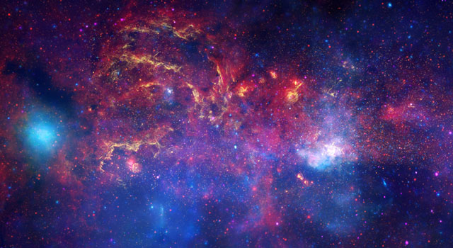 NASA's Great Observatories Examine the Galactic Center Region