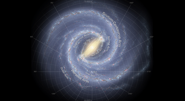 An artist's conception of our Milky Way galaxy