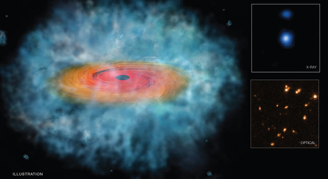 This illustration depicts a possible 'seed' for the formation of a supermassive black hole.