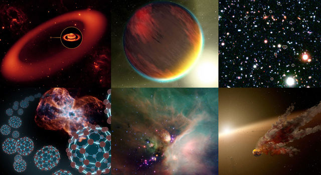 Montage of Spitzer images