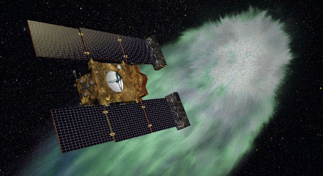 NASA's Stardust-NExT mission will fly past comet Tempel 1 on the evening of Feb. 14, 2011