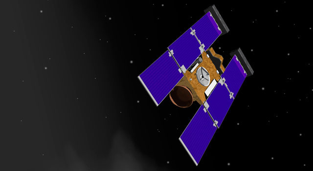 STARDUST Launch Artist rendering of Stardust-NExT spacecraft. Image credit: NASA/JPL