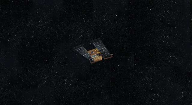 Artist's concept of NASA's Stardust spacecraft