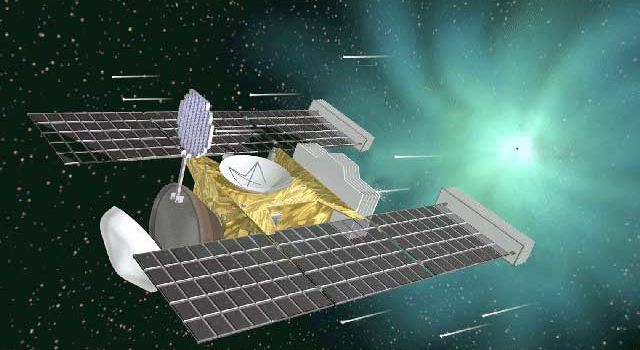 An artist's rendering of the Stardust spacecraft.