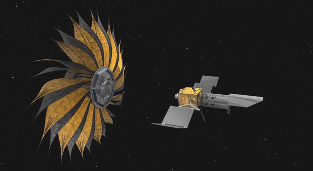 This illustration shows the prototype starshade