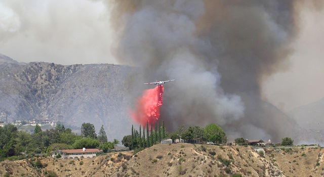 The 2009 Station Fire in Southern California was an example of a summer fire not driven by Santa Ana winds.
