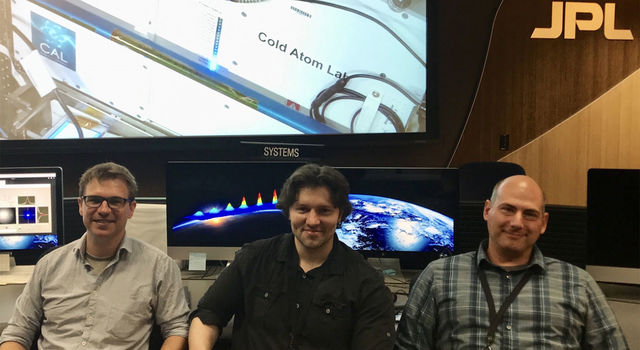 JPL scientists and members of the Cold Atom Lab's atomic physics team