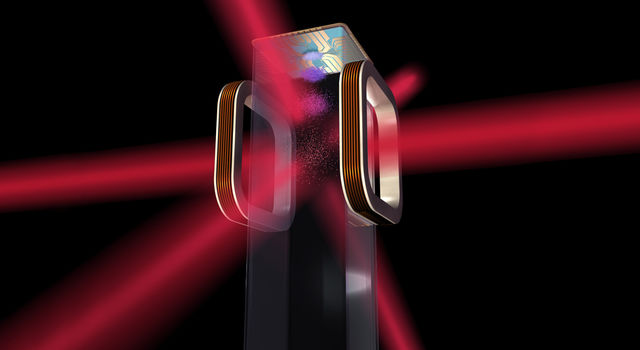 Artist's concept of an atom chip for use by NASA's Cold Atom Laboratory