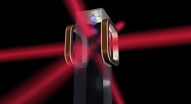 Artist's concept of an atom chip for use by NASA's Cold Atom Laboratory (CAL)