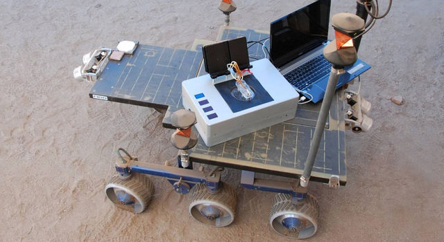 Researchers took the Chemical Laptop to JPL's Mars Yard