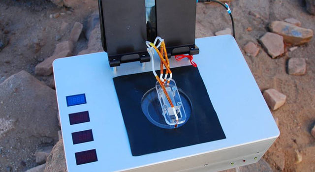 The Chemical Laptop, developed at JPL, analyzes liquid samples and detects amino acids and fatty acids.