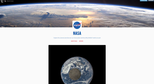 NASA Tumblr ad