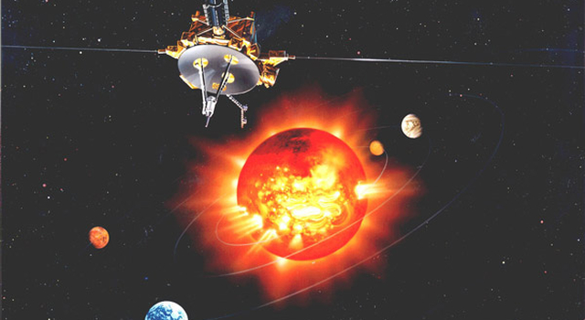 artist concept of Ulysses spacecraft