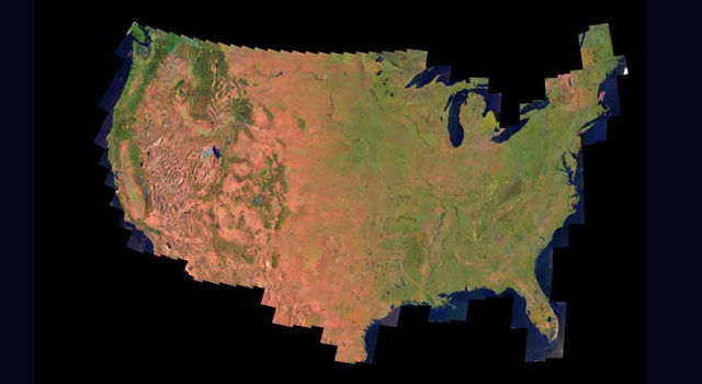 Landsat image of Earth