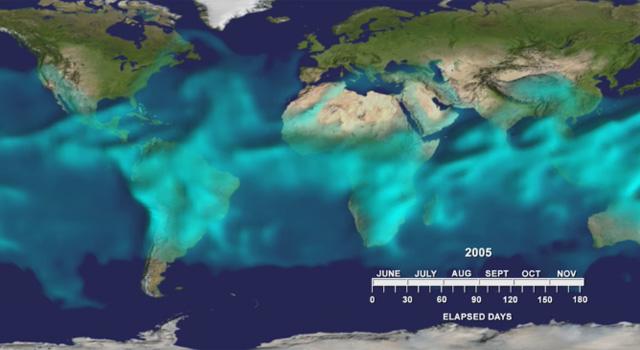 distribution of atmospheric water vapor