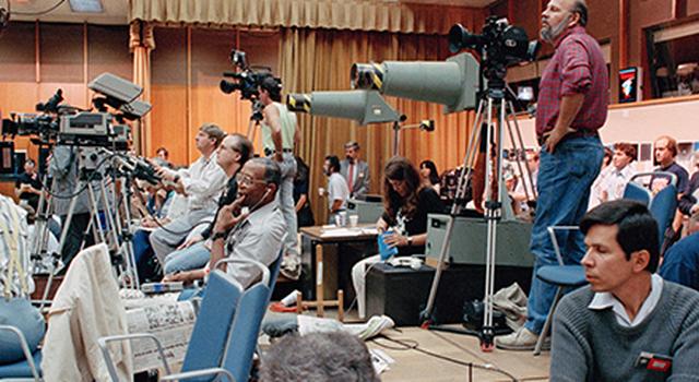 The television studio