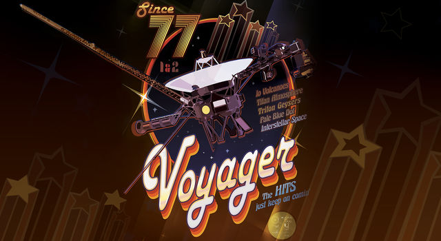 Voyager 40th Anniversary disco poster