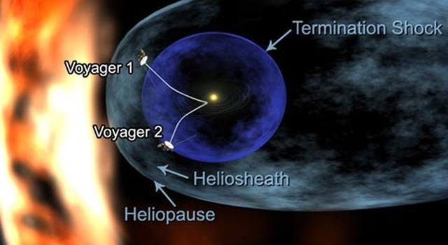 artist concept of Voyager near interstellar space