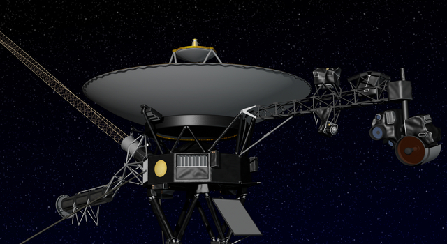 Artist's concept of NASA's Voyager spacecraft. Image credit: NASA/JPL-Caltech