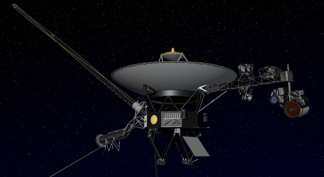 Artist's concept of the Voyager spacecraft