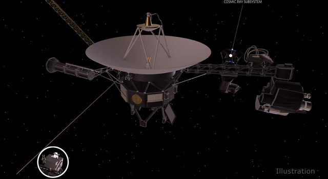 Artist's concept depicts one of NASA's Voyager spacecraft