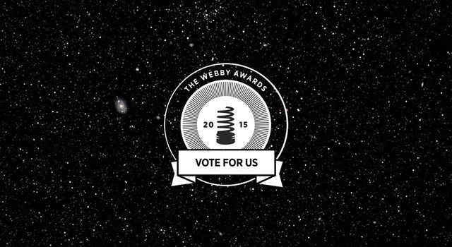 Several NASA websites are nominated for the 2015 Webby People's Voice Awards.