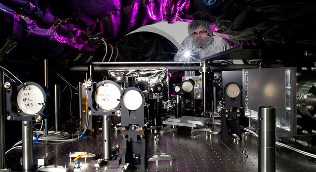 An optical engineer at NASA's Jet Propulsion Laboratory