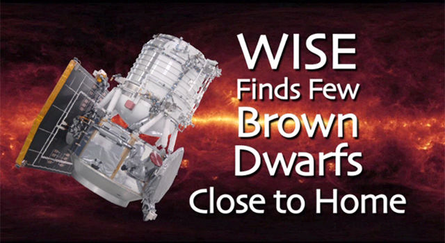 WISE Finds Few Brown Dwarfs Close to Home