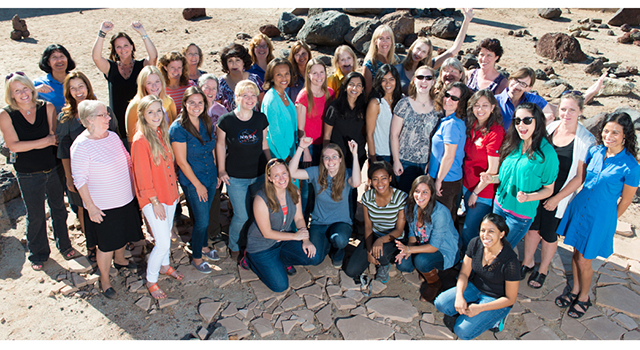 Some of the women working on NASA's Mars Science Laboratory Project
