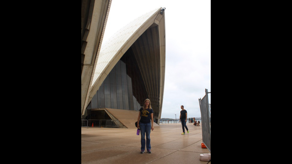Jenna at the Sydney Opera House