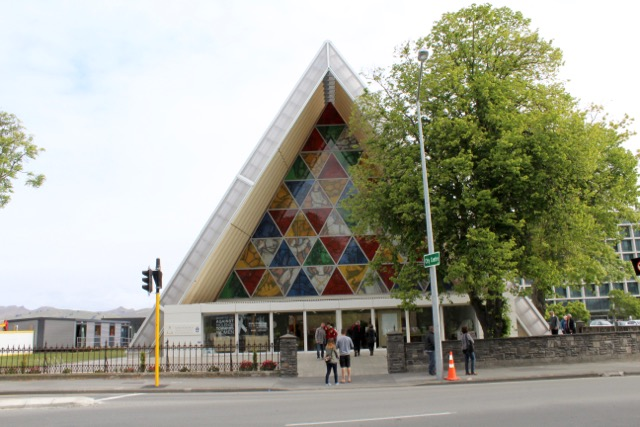 The Cardboard Cathedral in Christchurch