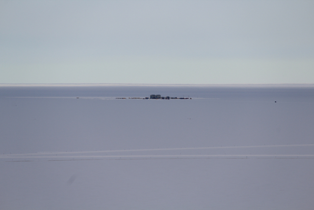 A view of LDB on the drive between McMurdo Station and Scott Base en route to the Pressure Ridge Tour
