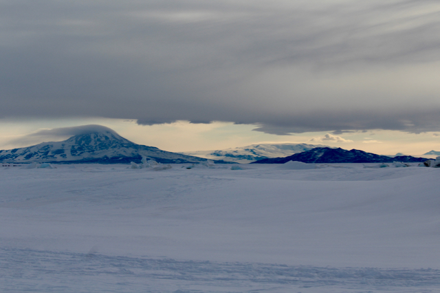 View of Mt. Discovery near the Ross Ice Shelf