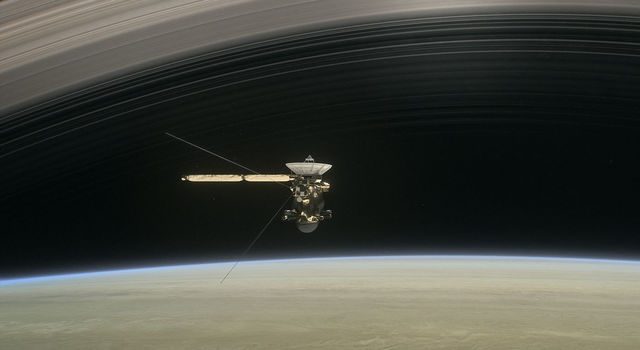 Artist's rendering of Cassini at Saturn