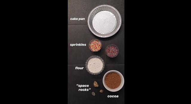 Materials for the Make a Crater activity