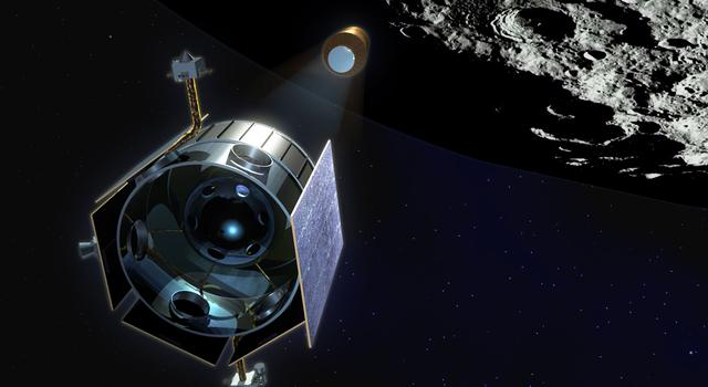 Artist concept of the LCROSS spacecraft