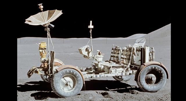 Apollo 15 Lunar Rover on the moon