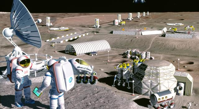 Artist's concept of a moon base